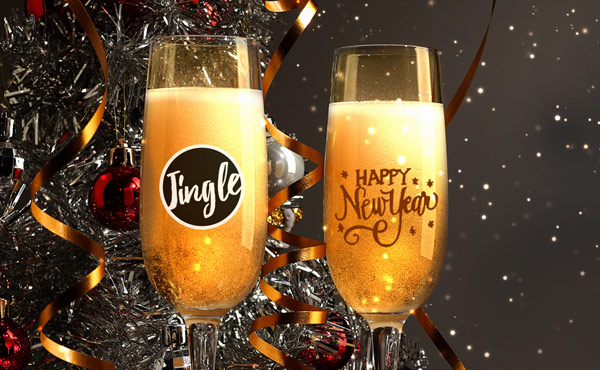 10% off custom-printed holiday glassware